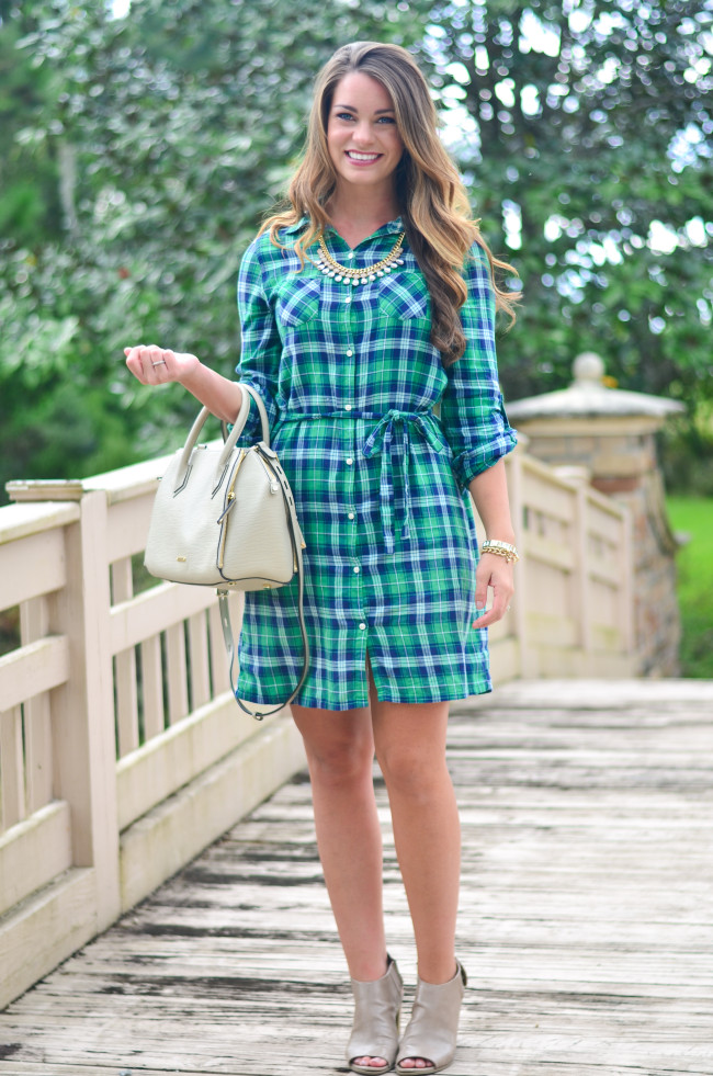 Flannel Shirt Dress-14