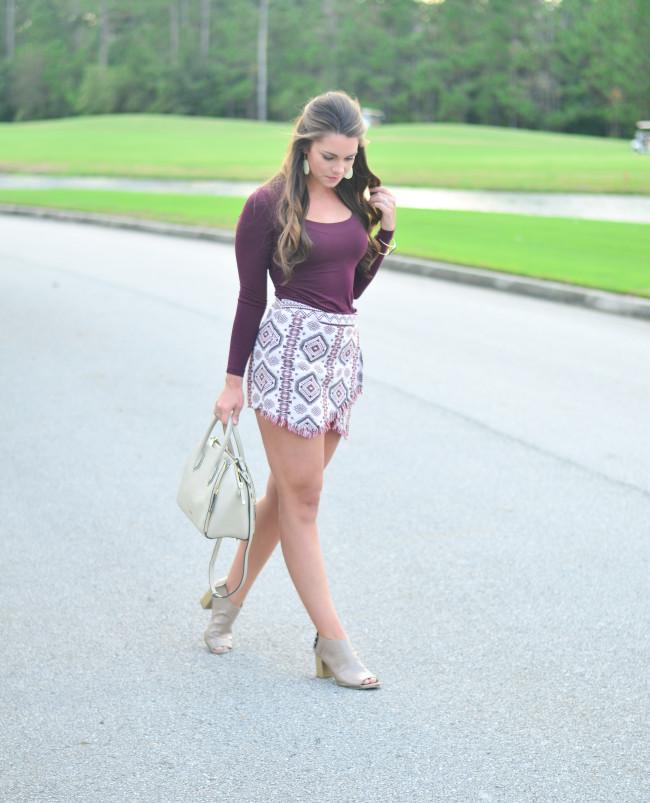 Garnet Gameday skirt -11