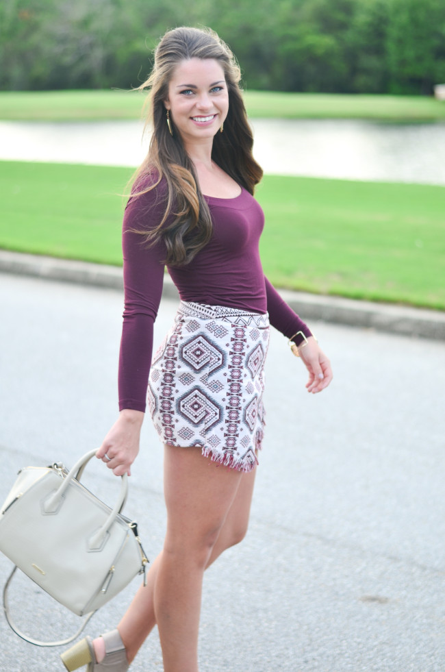 Garnet Gameday skirt -15