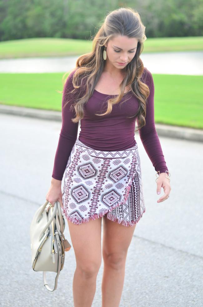 Garnet Gameday skirt-6