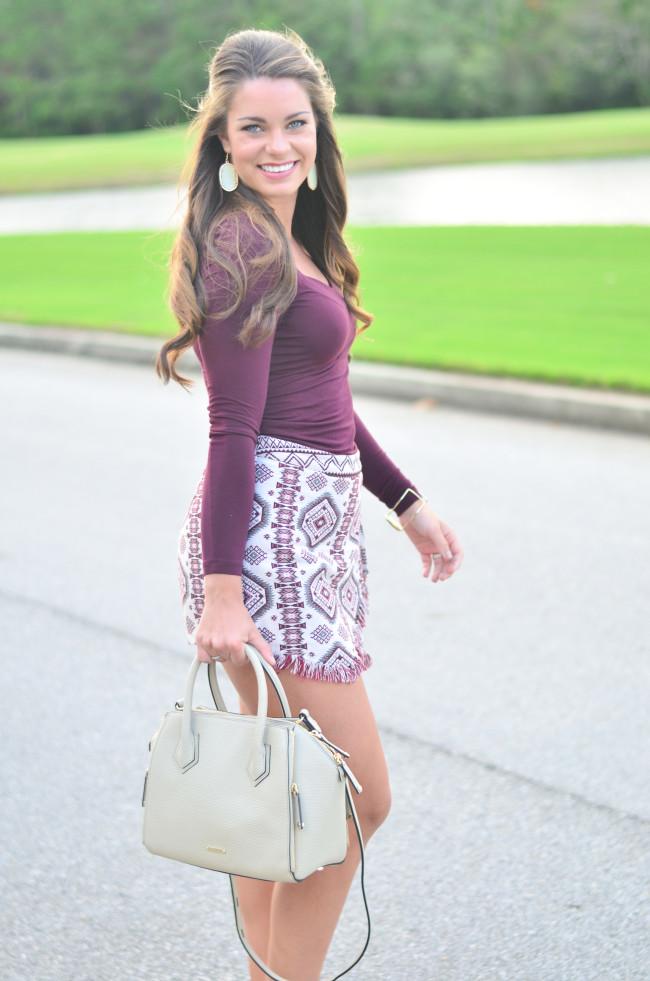 Garnet Gameday skirt-8
