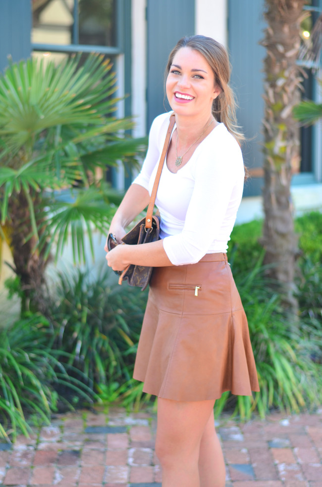 Joie Leather Skirt-1