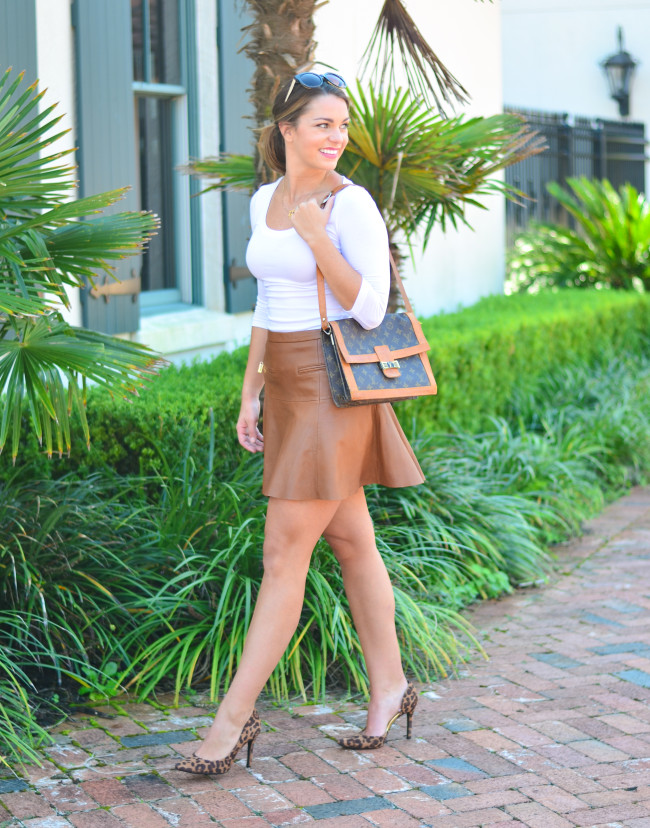 Joie Leather Skirt-5