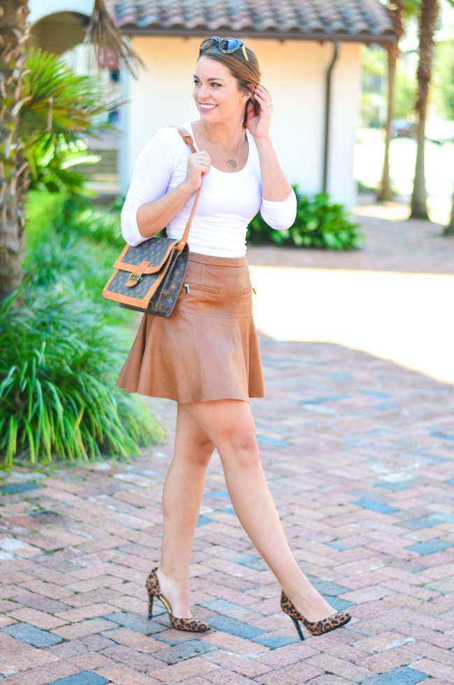Joie Leather Skirt-8