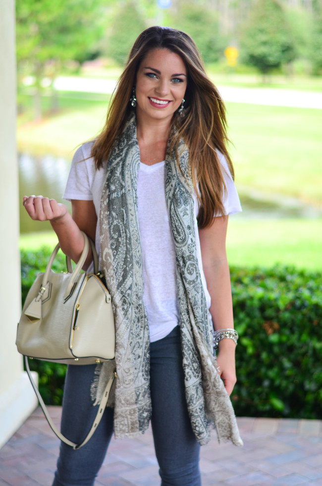 White Tee and Scarf-9