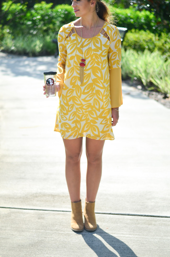 yellow game day dress-11