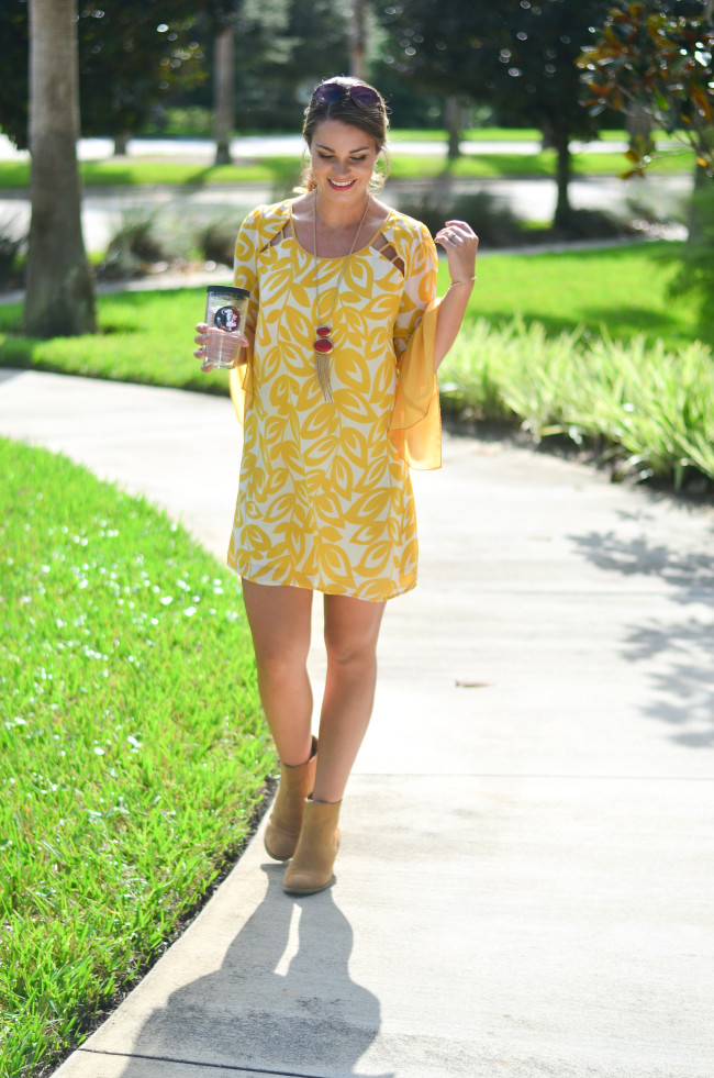 yellow game day dress-3