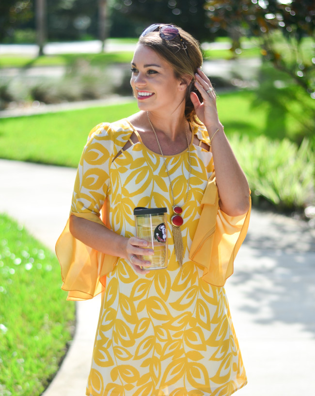 yellow game day dress-4