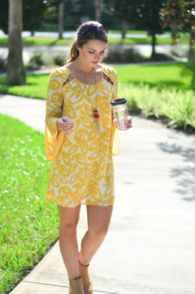 yellow game day dress-6