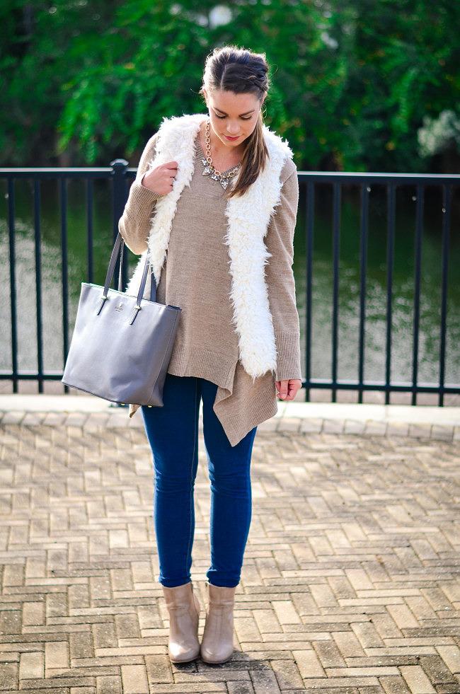 white fuzzy vest-3