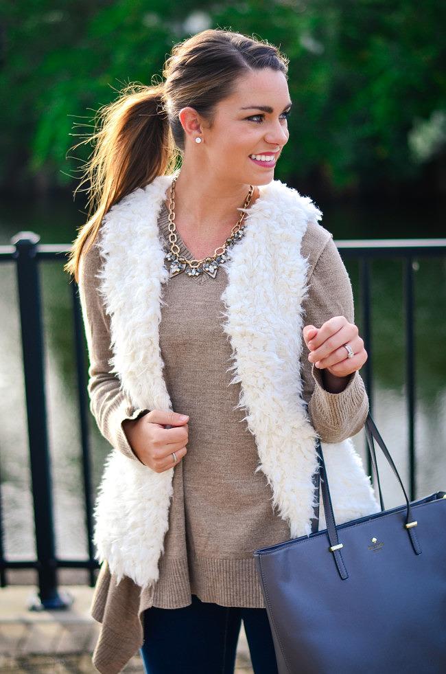 white fuzzy vest-5