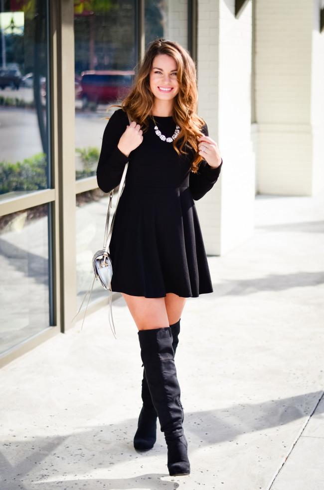 Black Skater Dress-8
