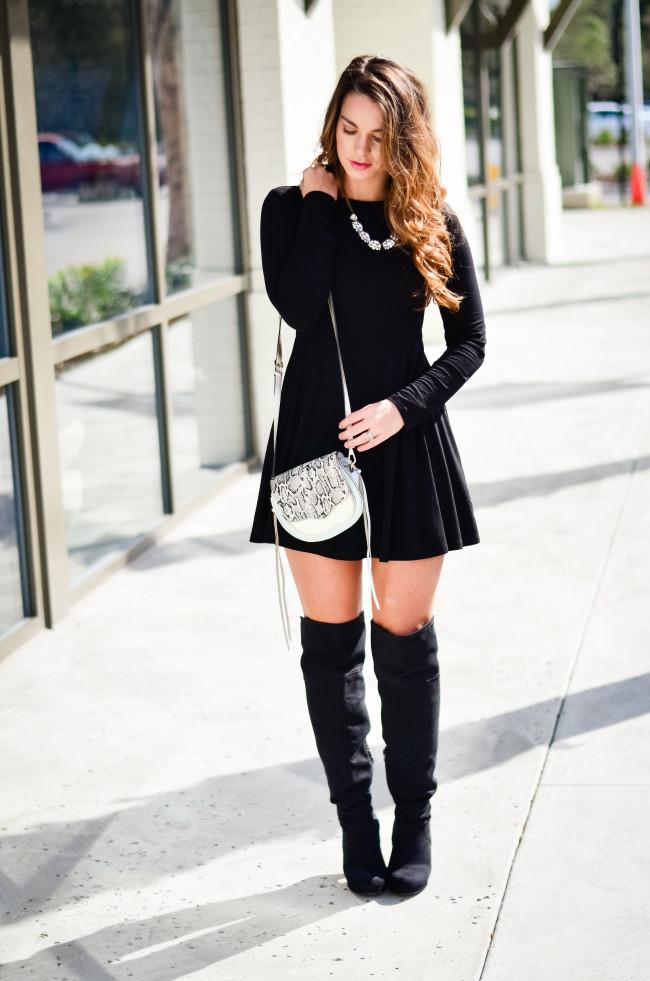 Black Skater Dress-9