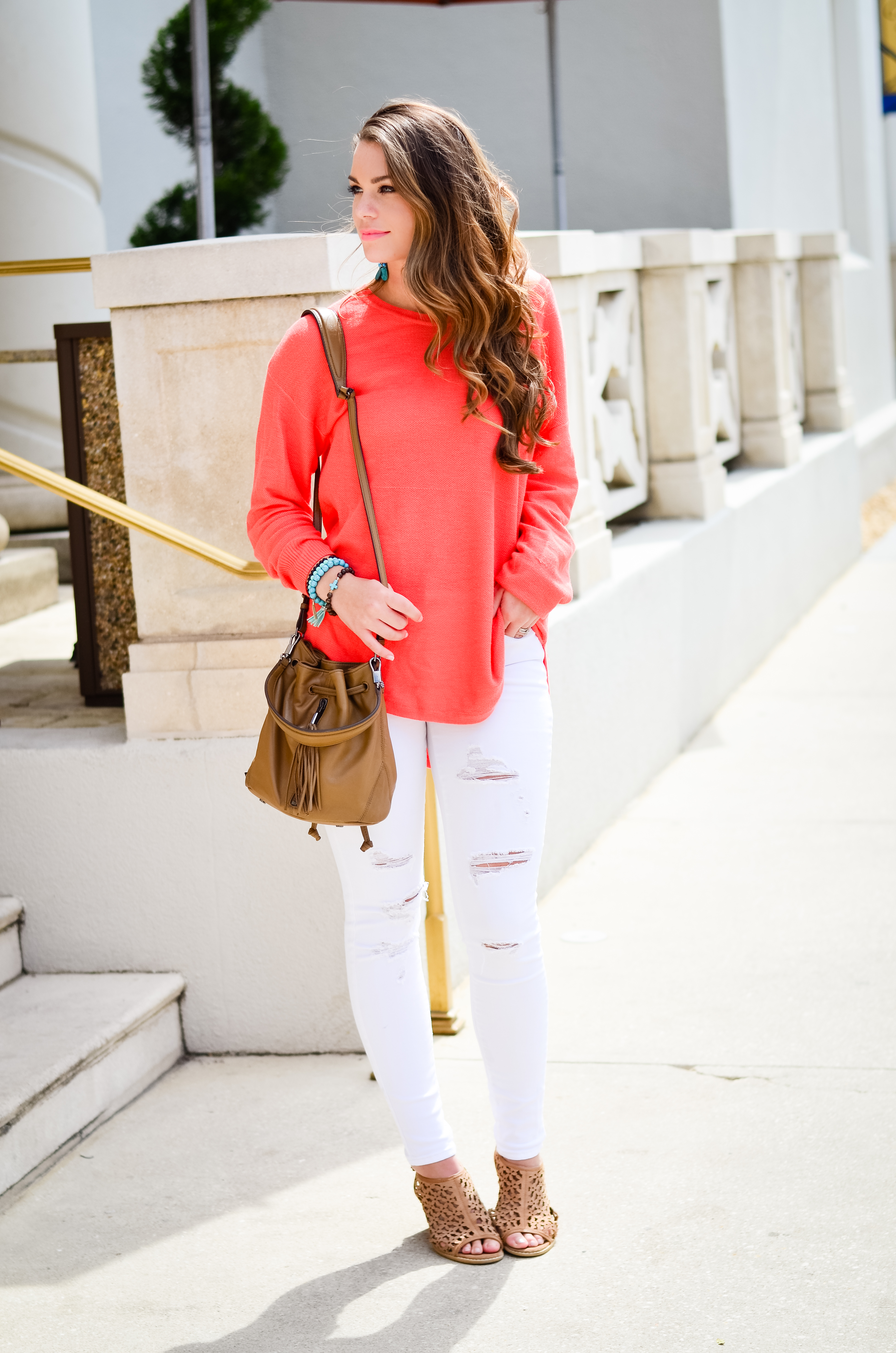 Coral Sweater in St. Aug-11