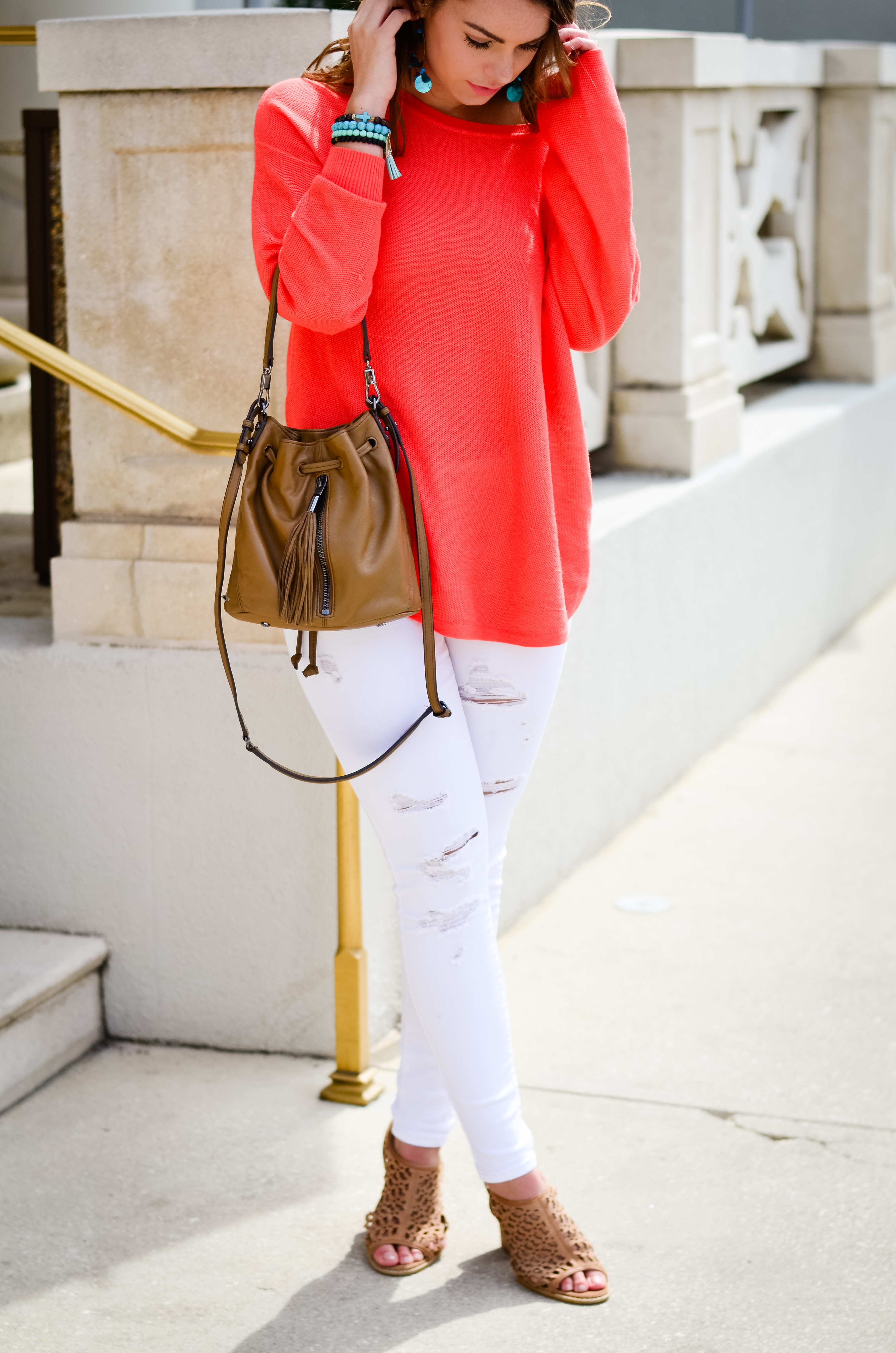 Coral Sweater in St. Aug-16