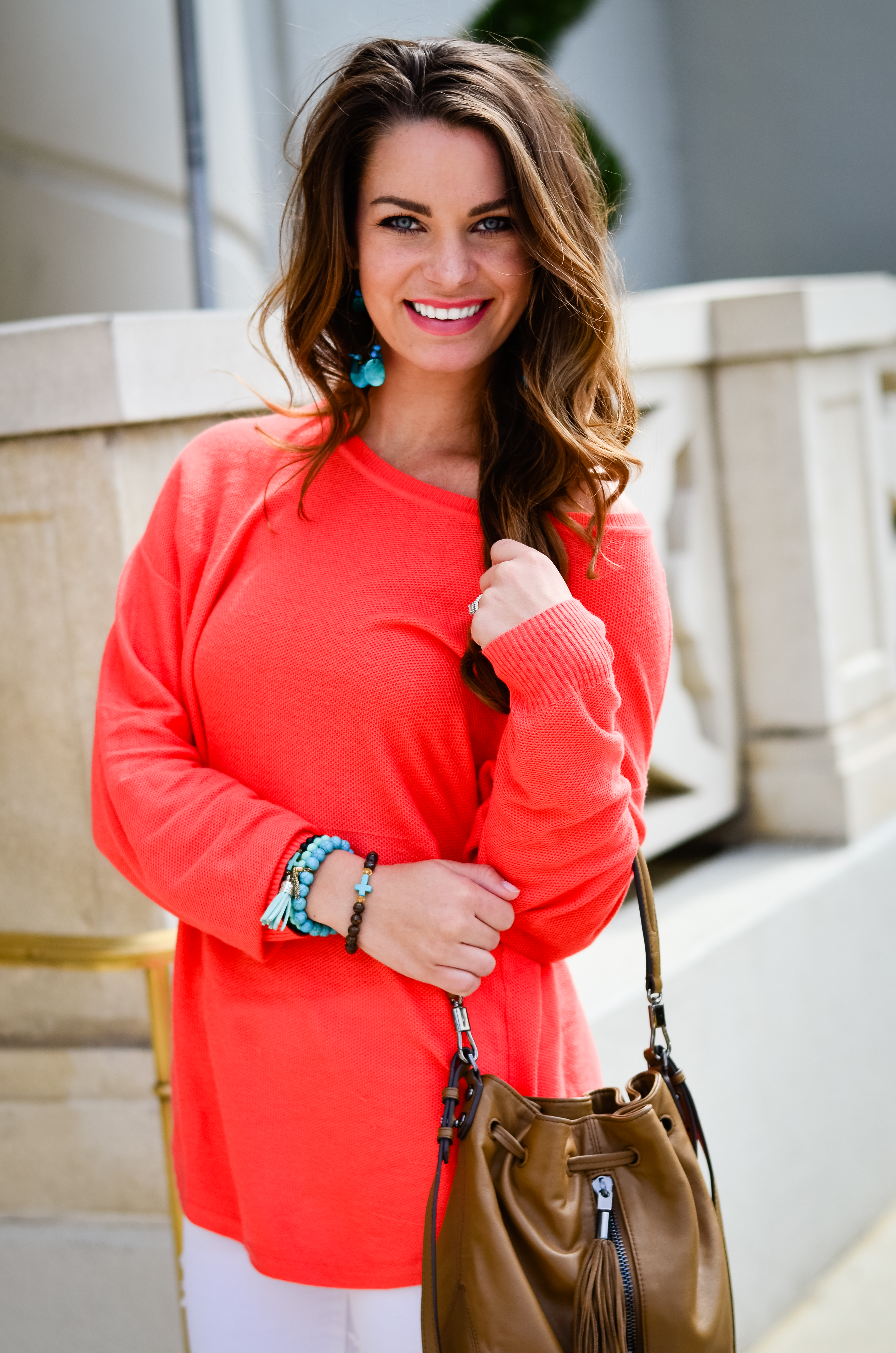 Coral Sweater in St. Aug-19