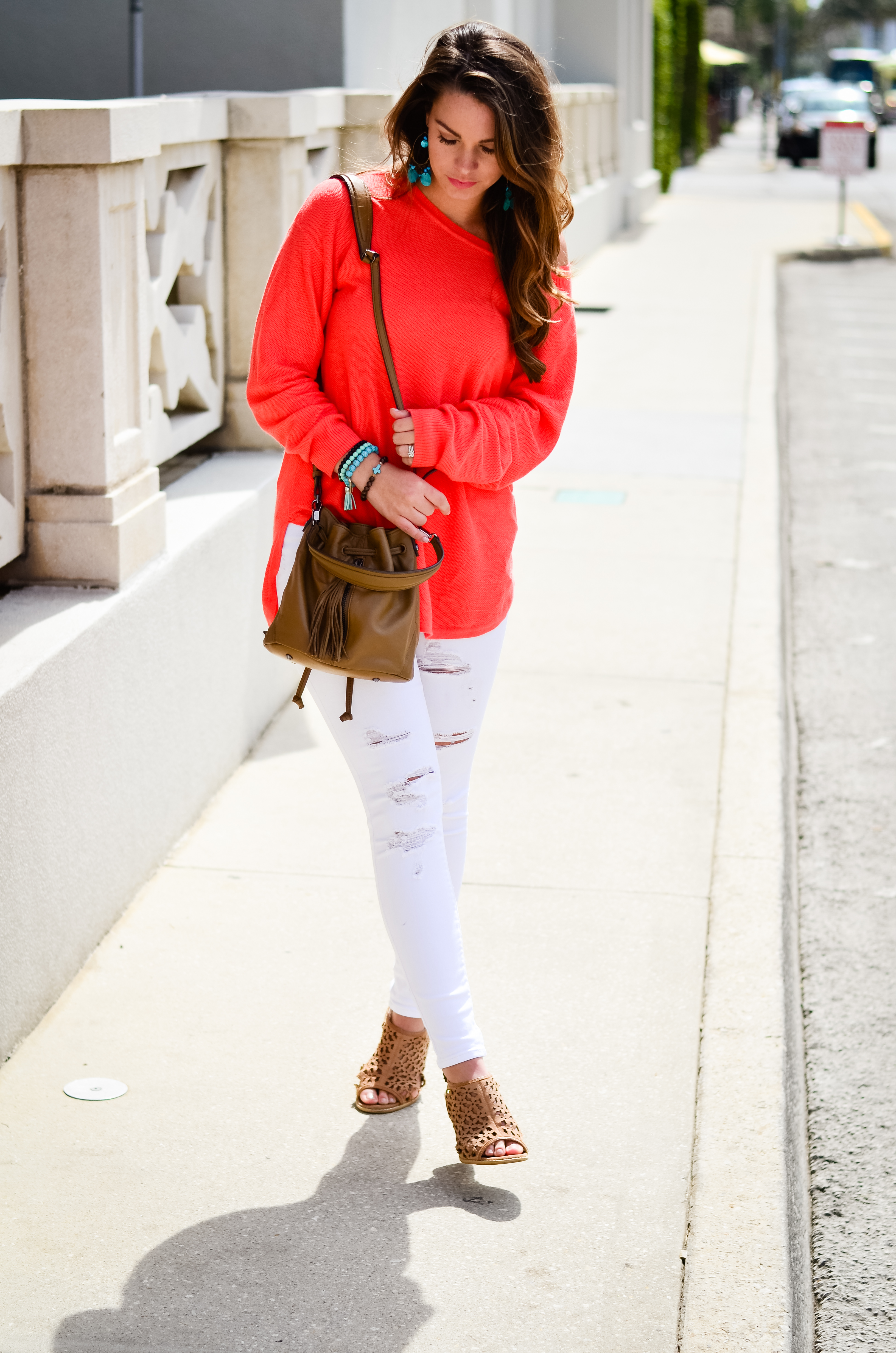 Coral Sweater in St. Aug-2