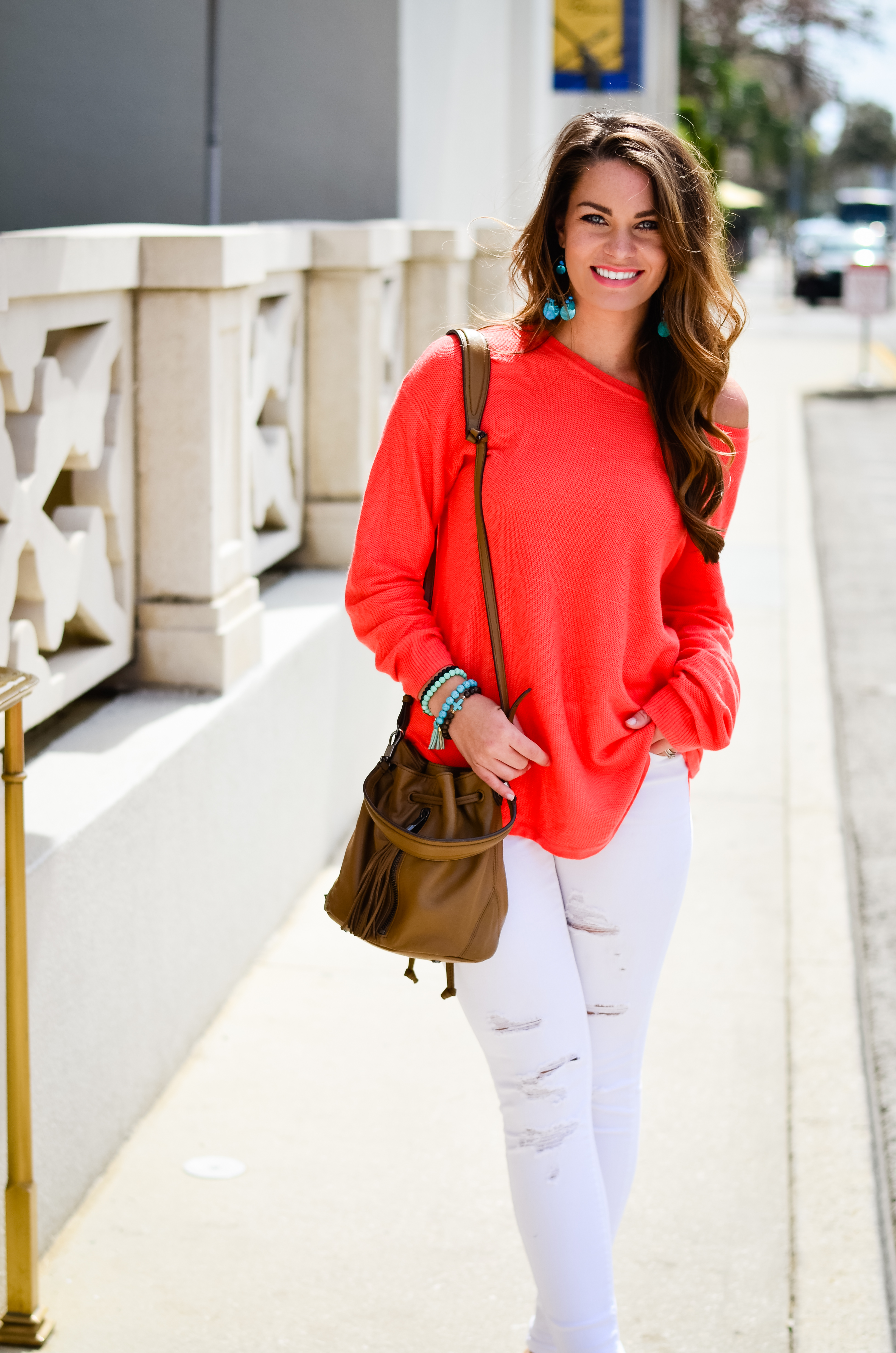 Coral Sweater in St. Aug-4
