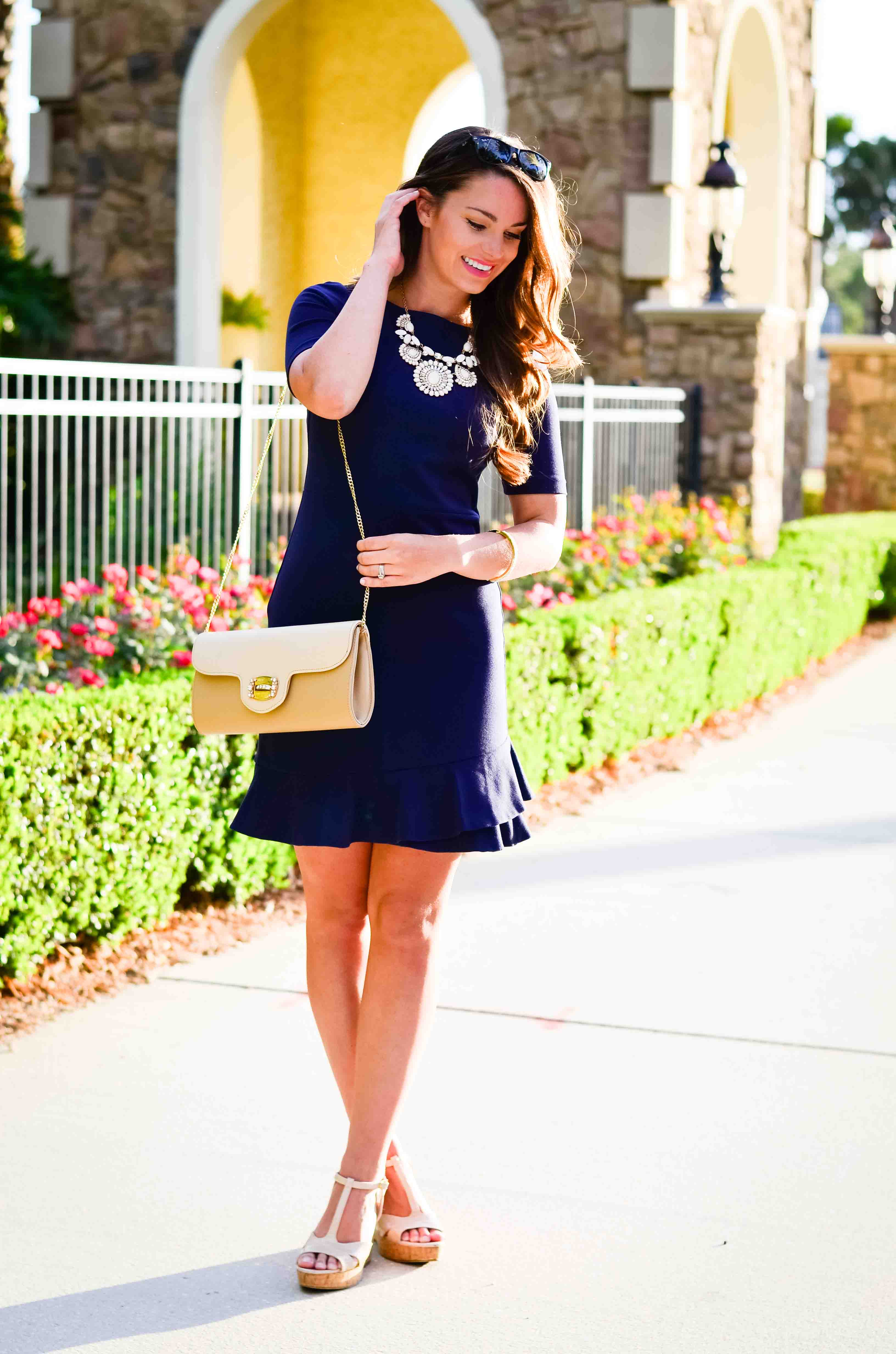 Navy DVF Dress-20