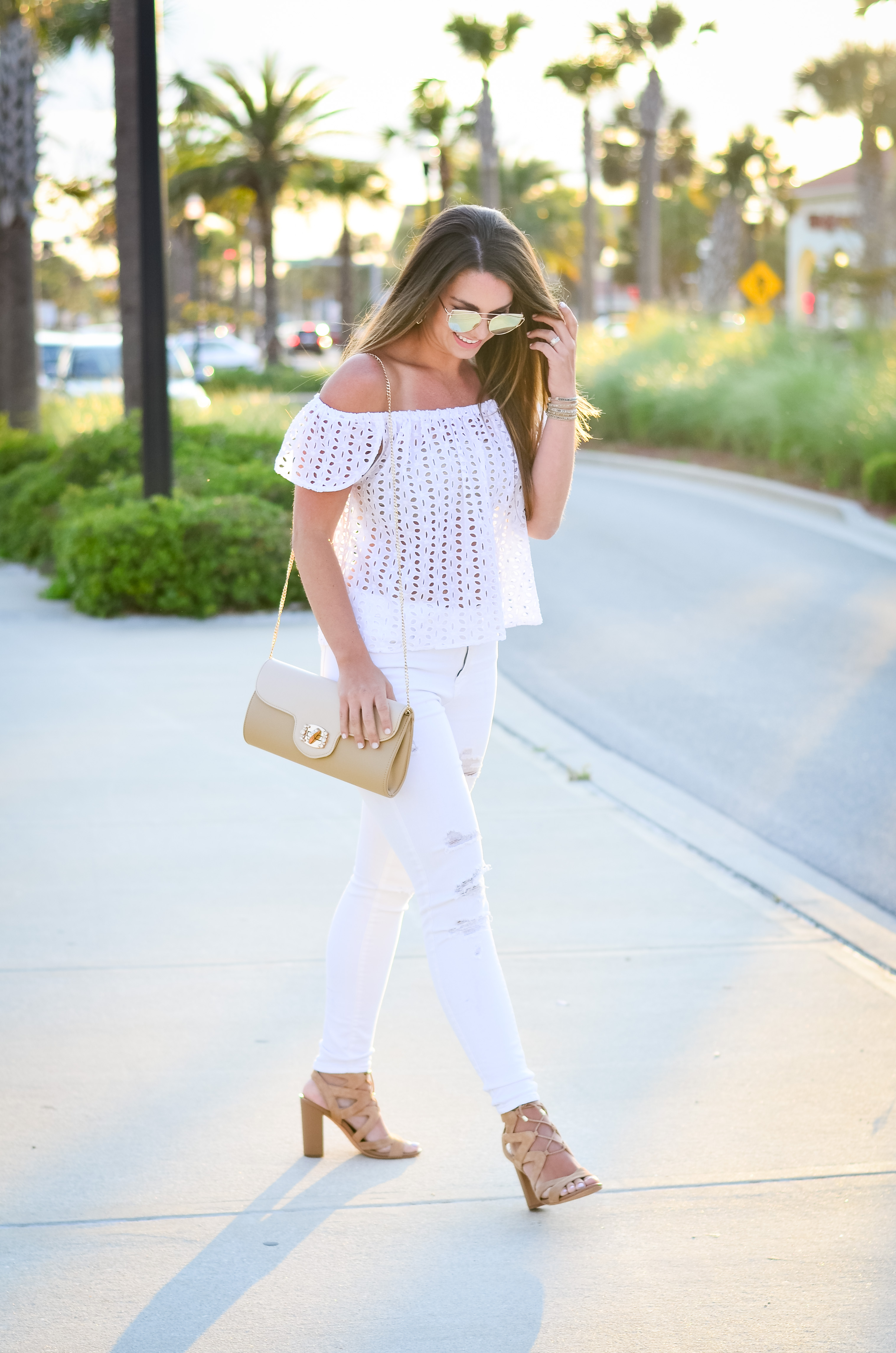 white eyelet top white denim-17