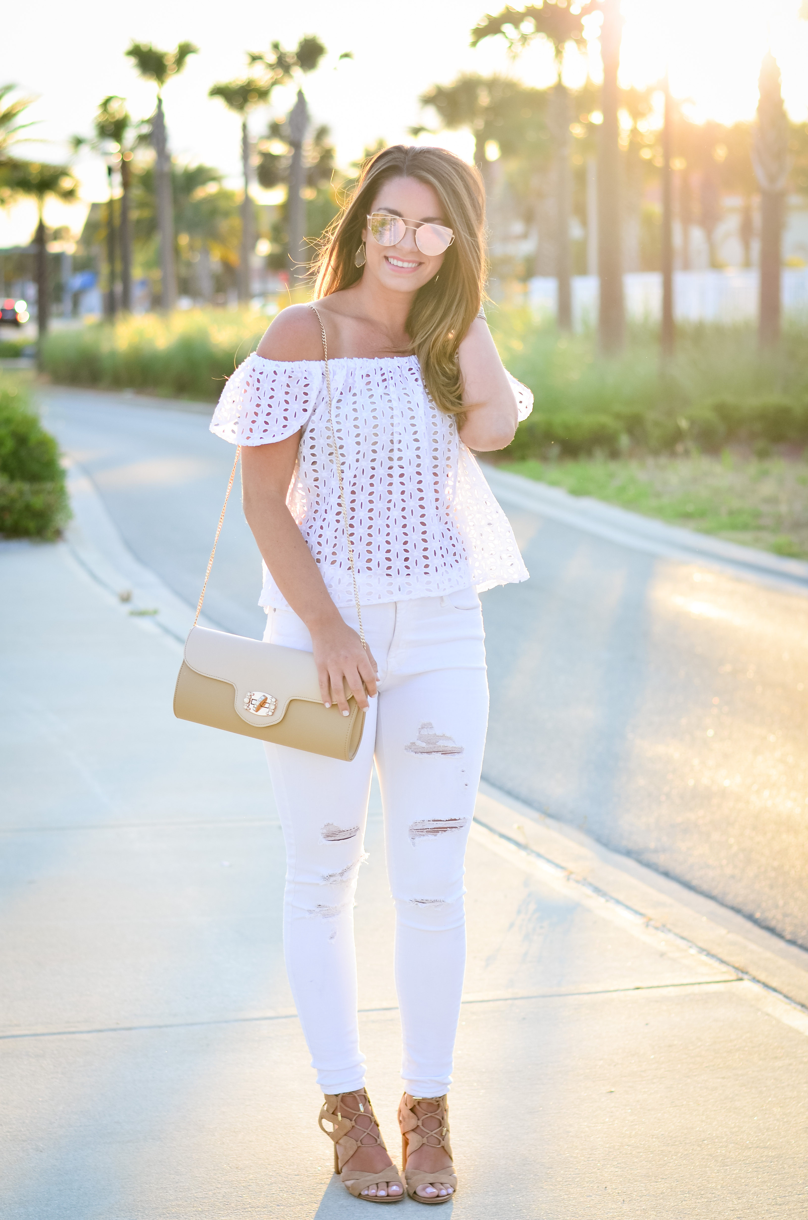 white eyelet top white denim-20