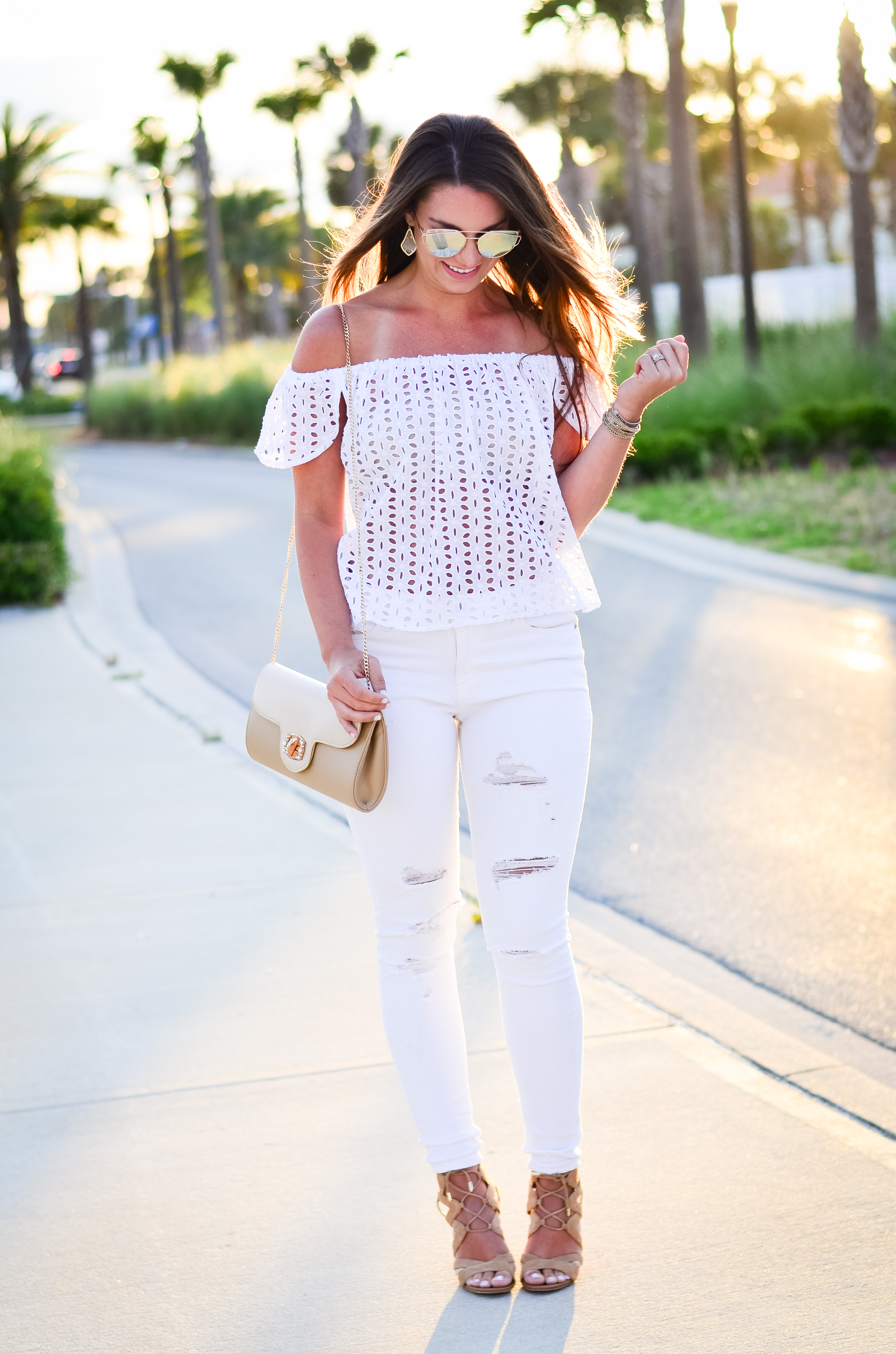 white eyelet top white denim-23