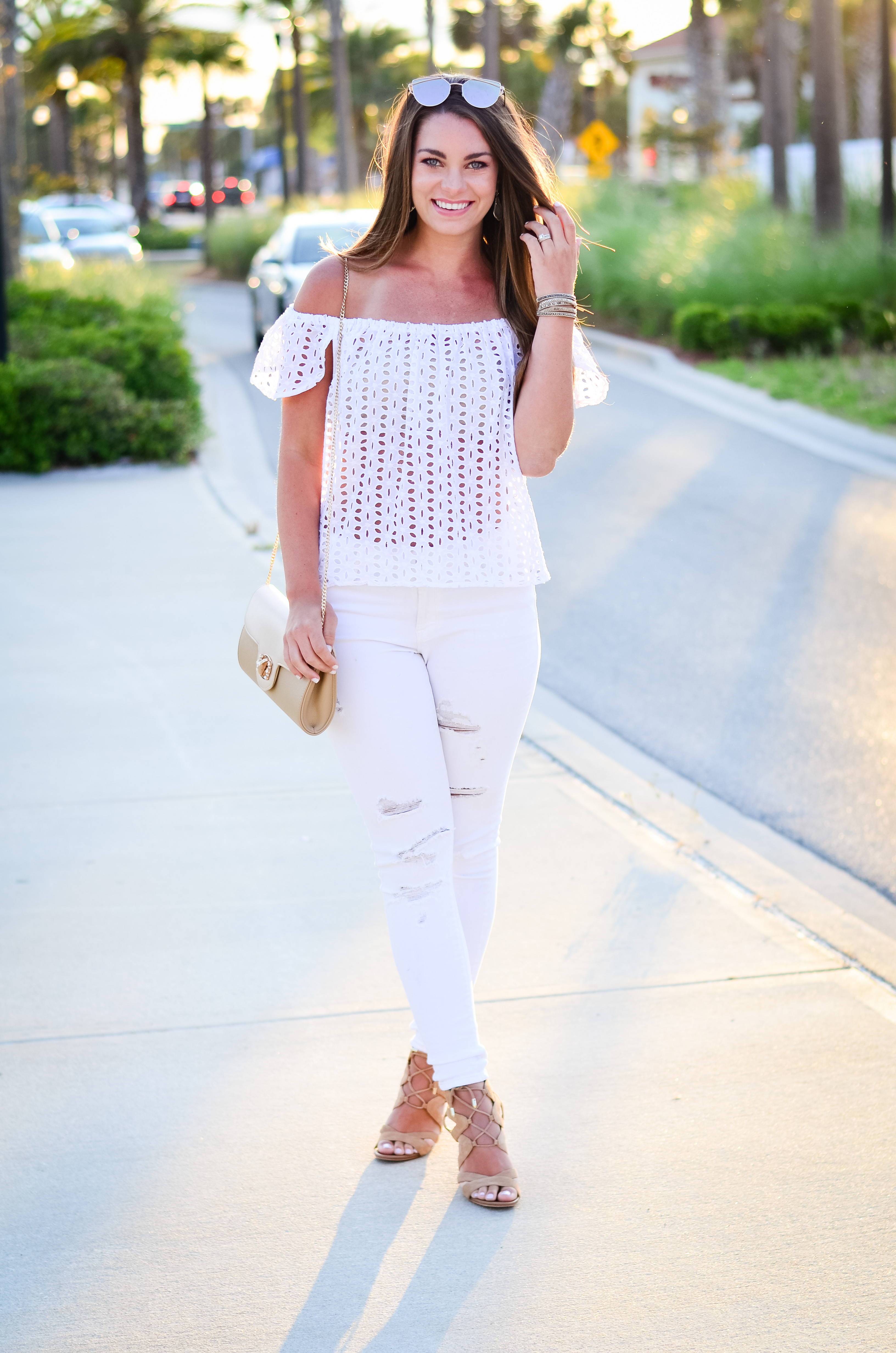 white eyelet top white denim-28