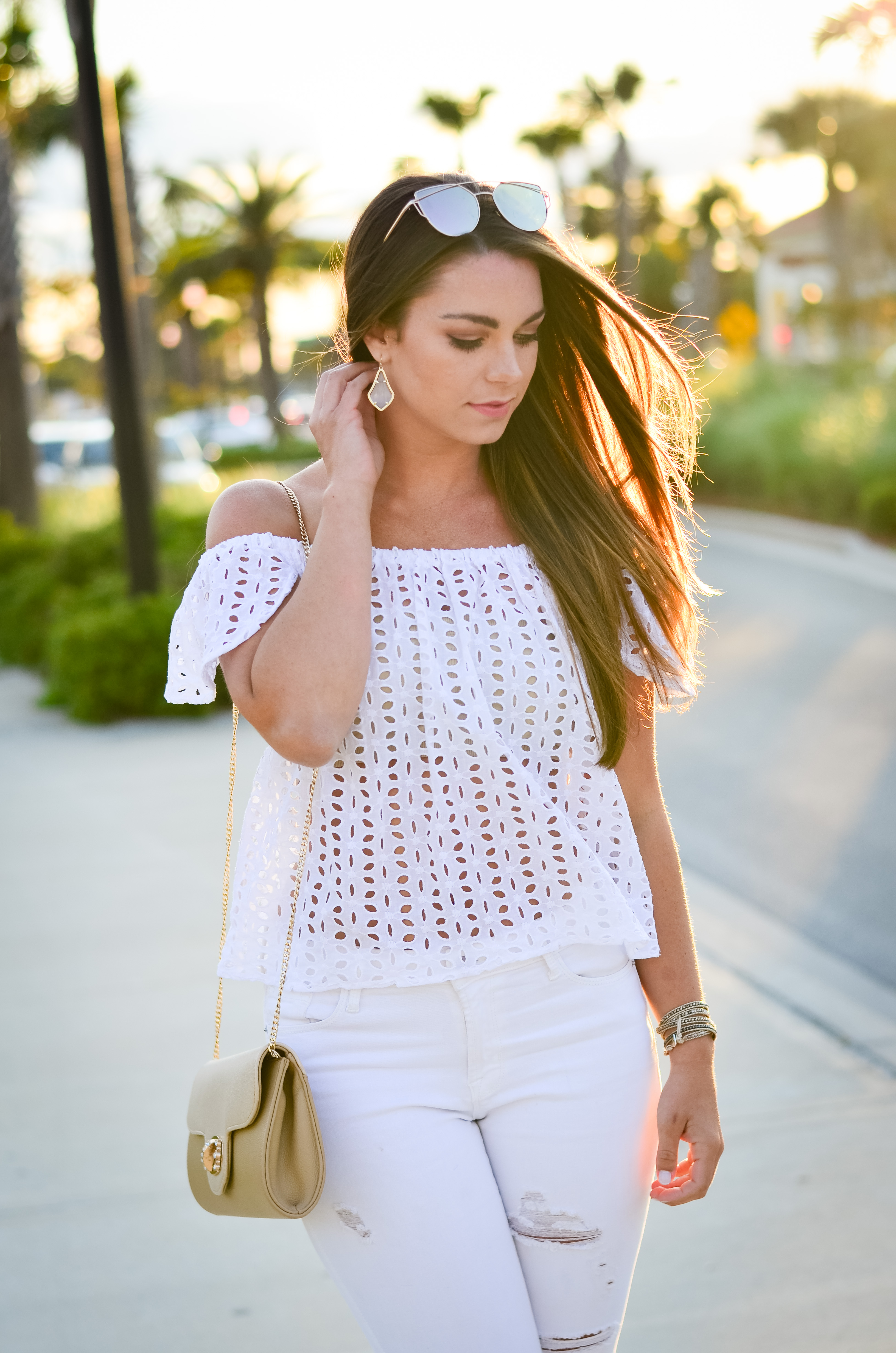 white eyelet top white denim-36