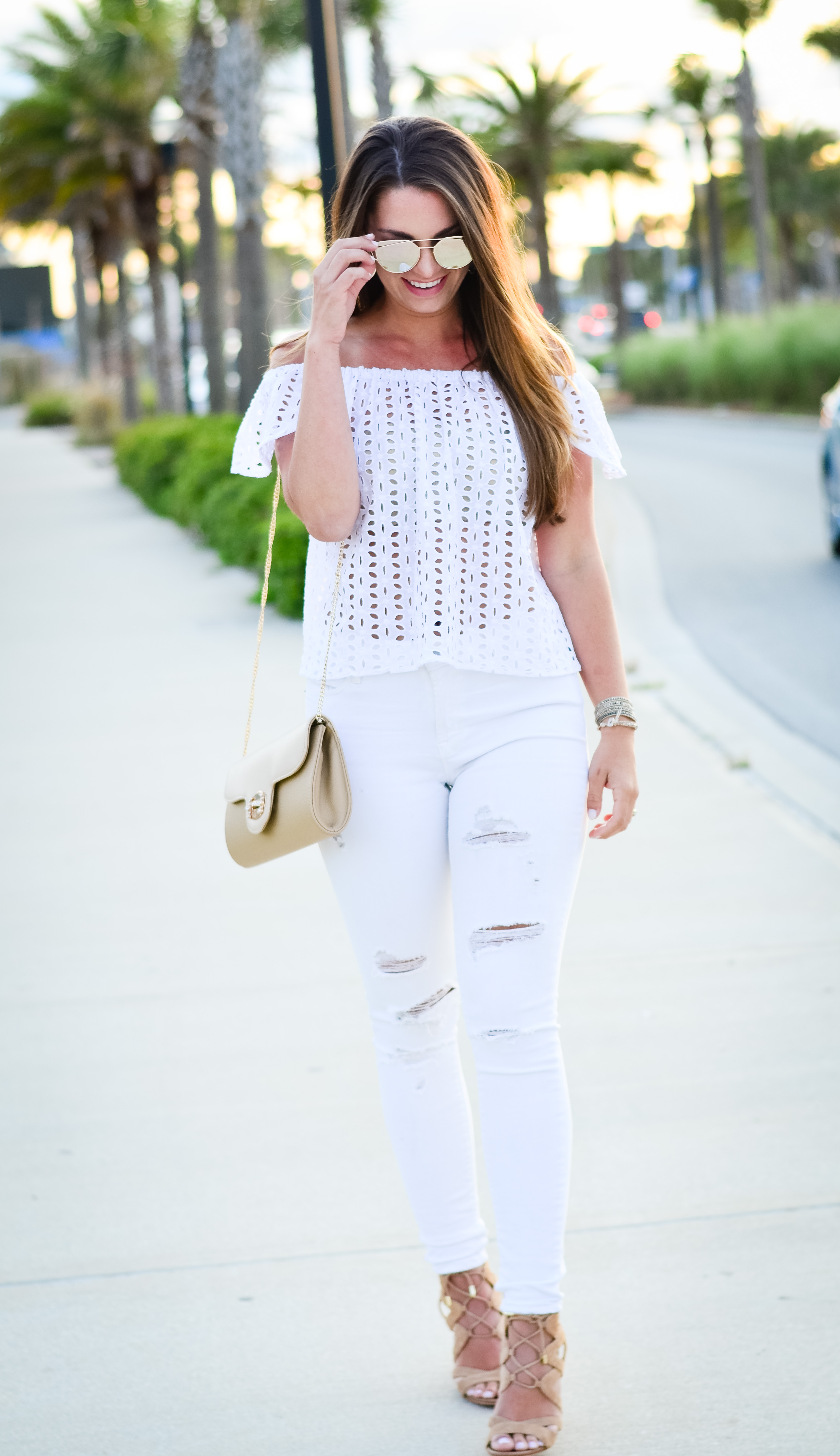 white eyelet top white denim-46