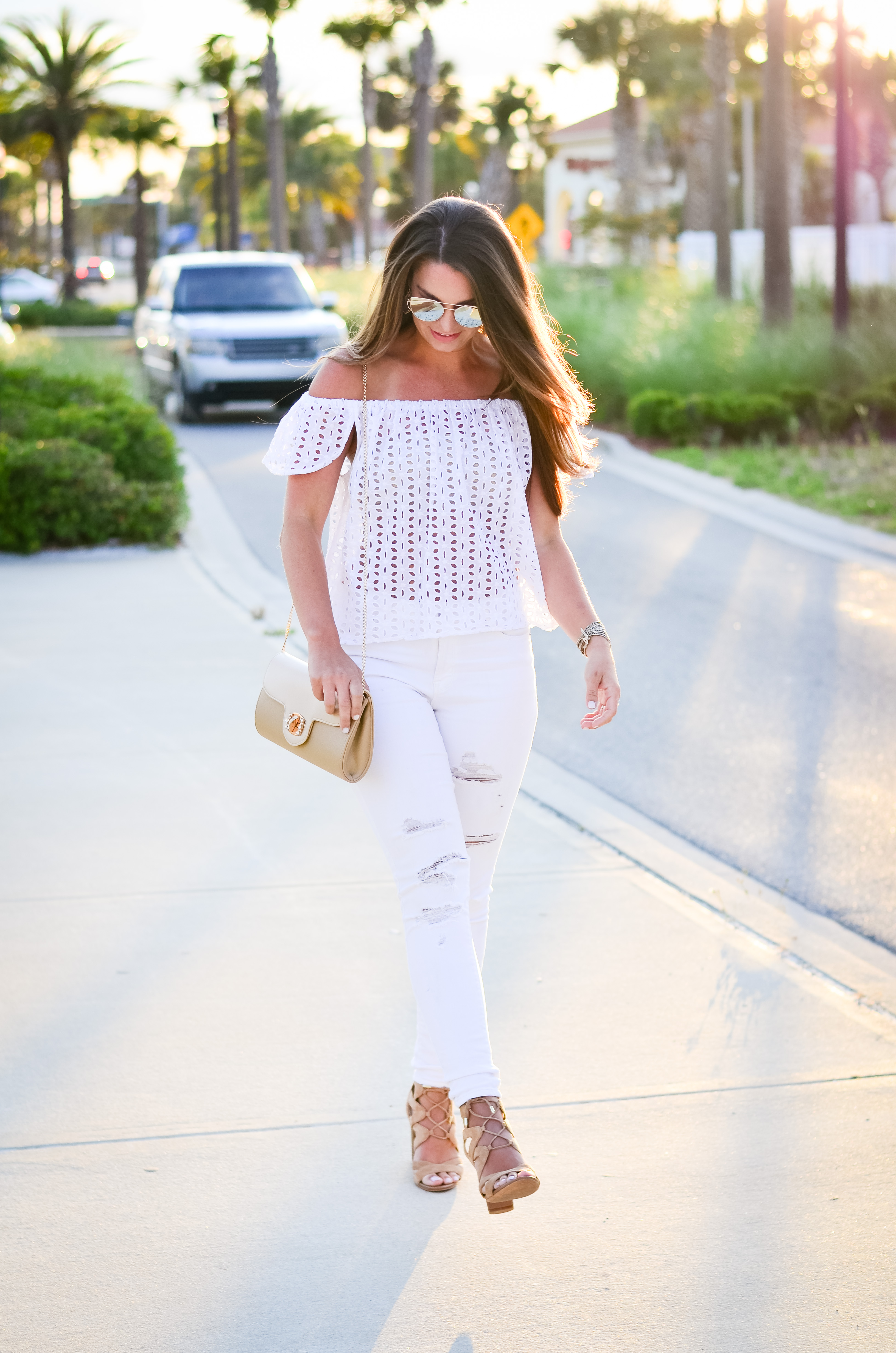 white eyelet top white denim-6