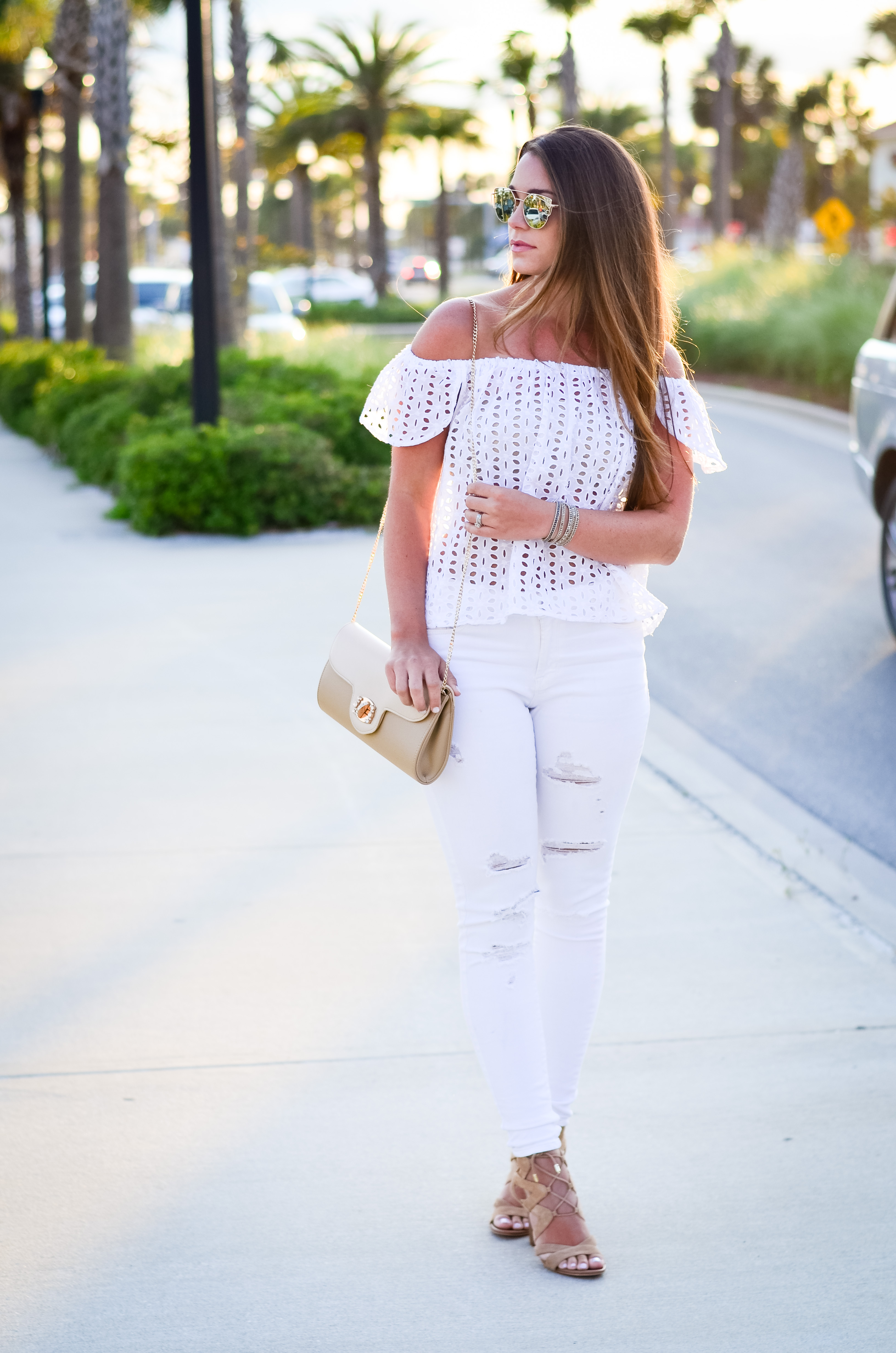 white eyelet top white denim-9