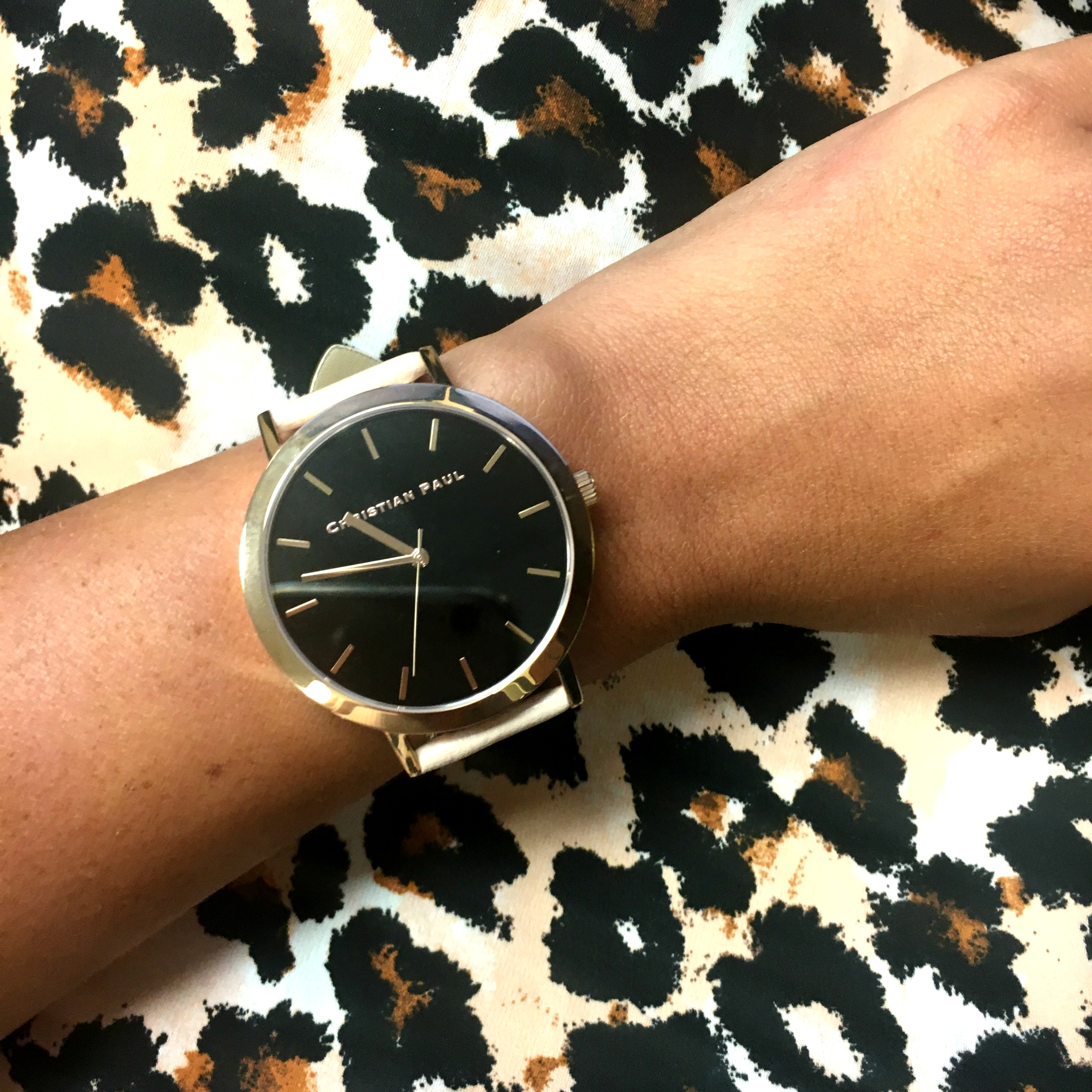 Christian Paul Rose Gold Black Watch Hello Alley
