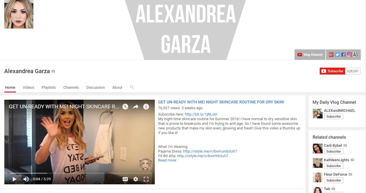 Alex Garza: I love this girls channel, she always has the best makeup tutorials that I feel are unique, but still attainable- some youtubers I cannot even ...