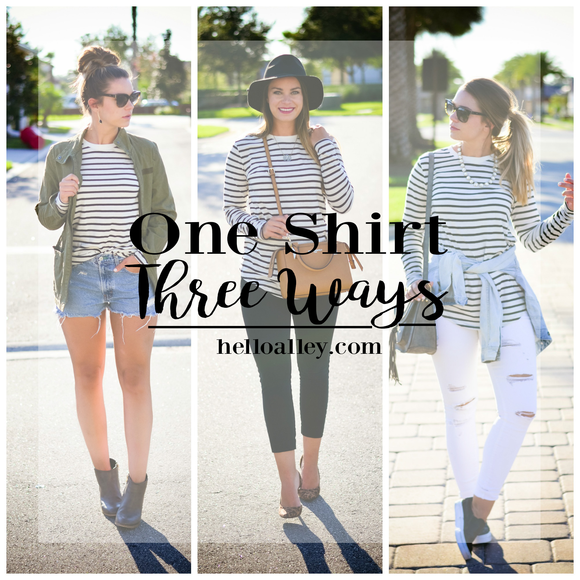StripeShirt 3 ways