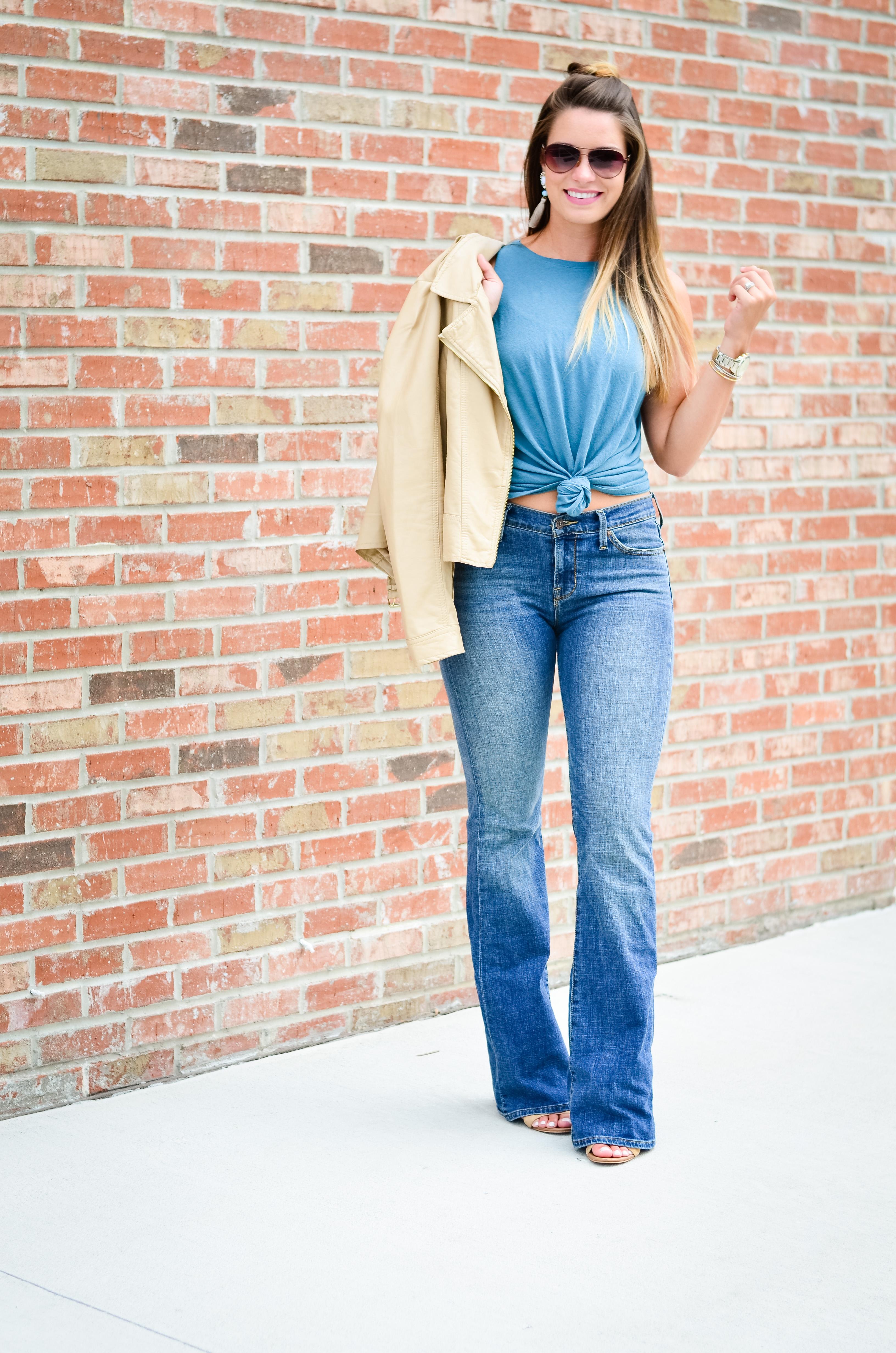 flare jeans blue tank -19