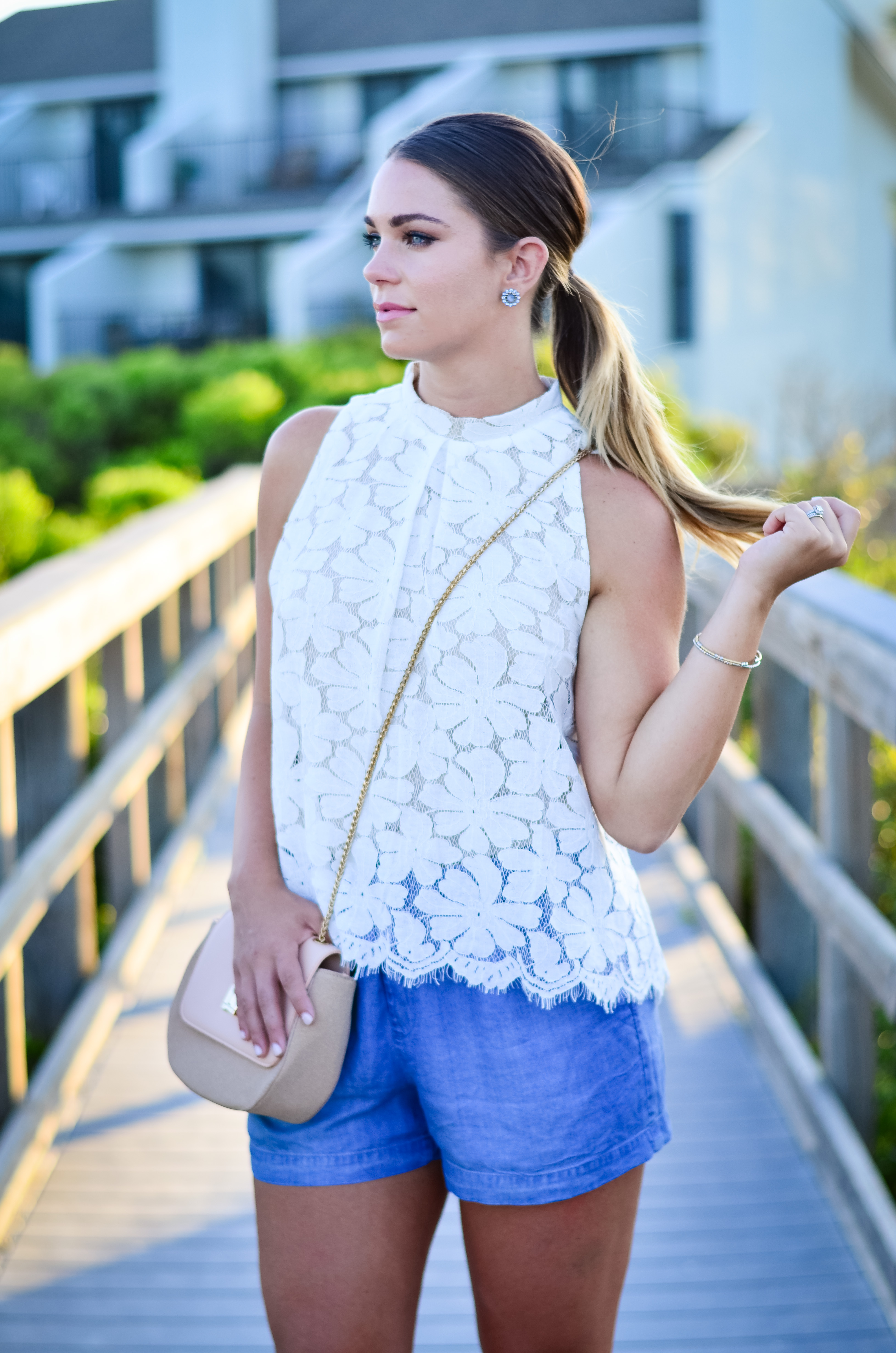 lace-shirt-chambray-shorts-11