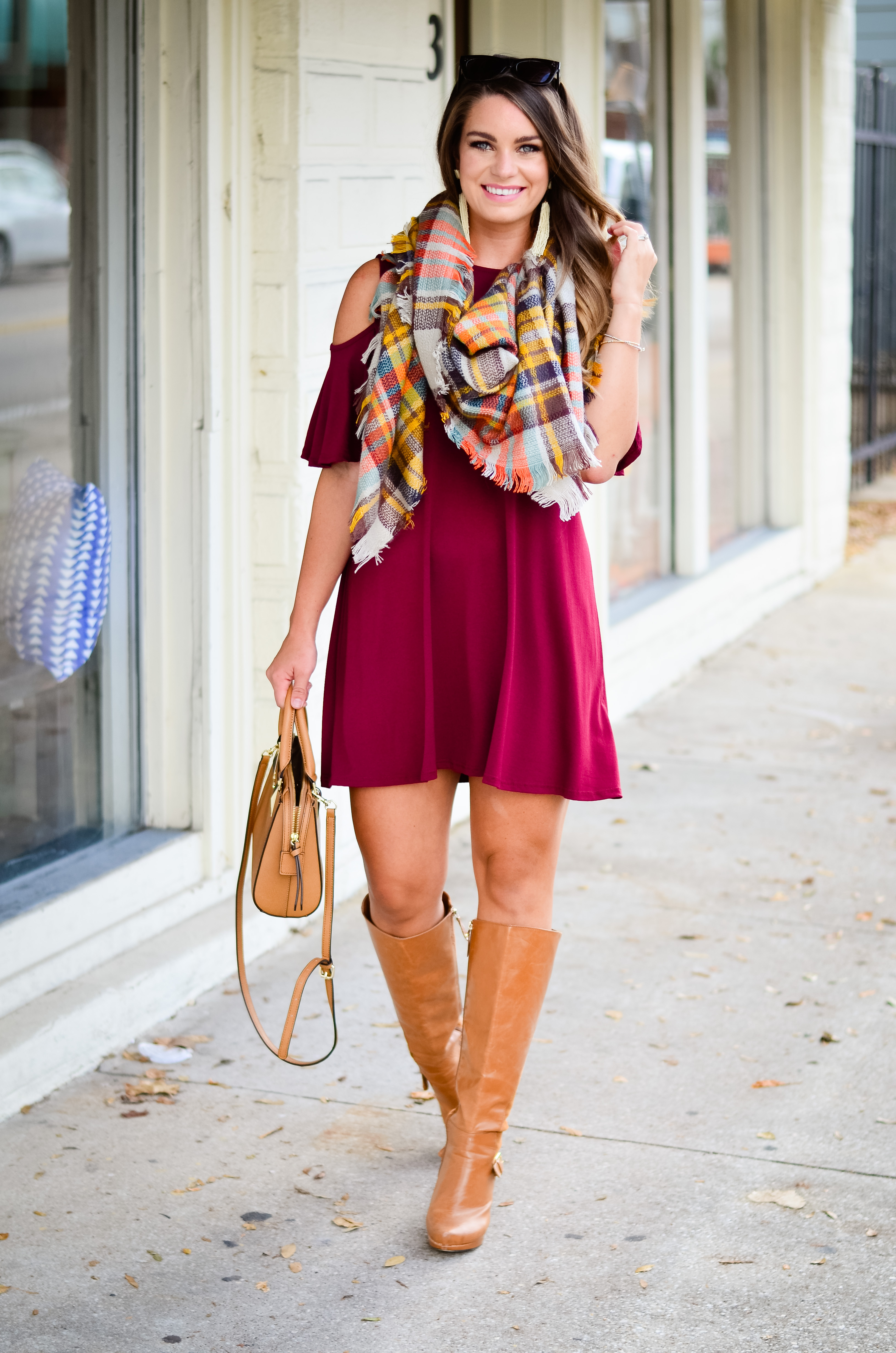 maroon-dress-blanket-scarf-goldfinch-17