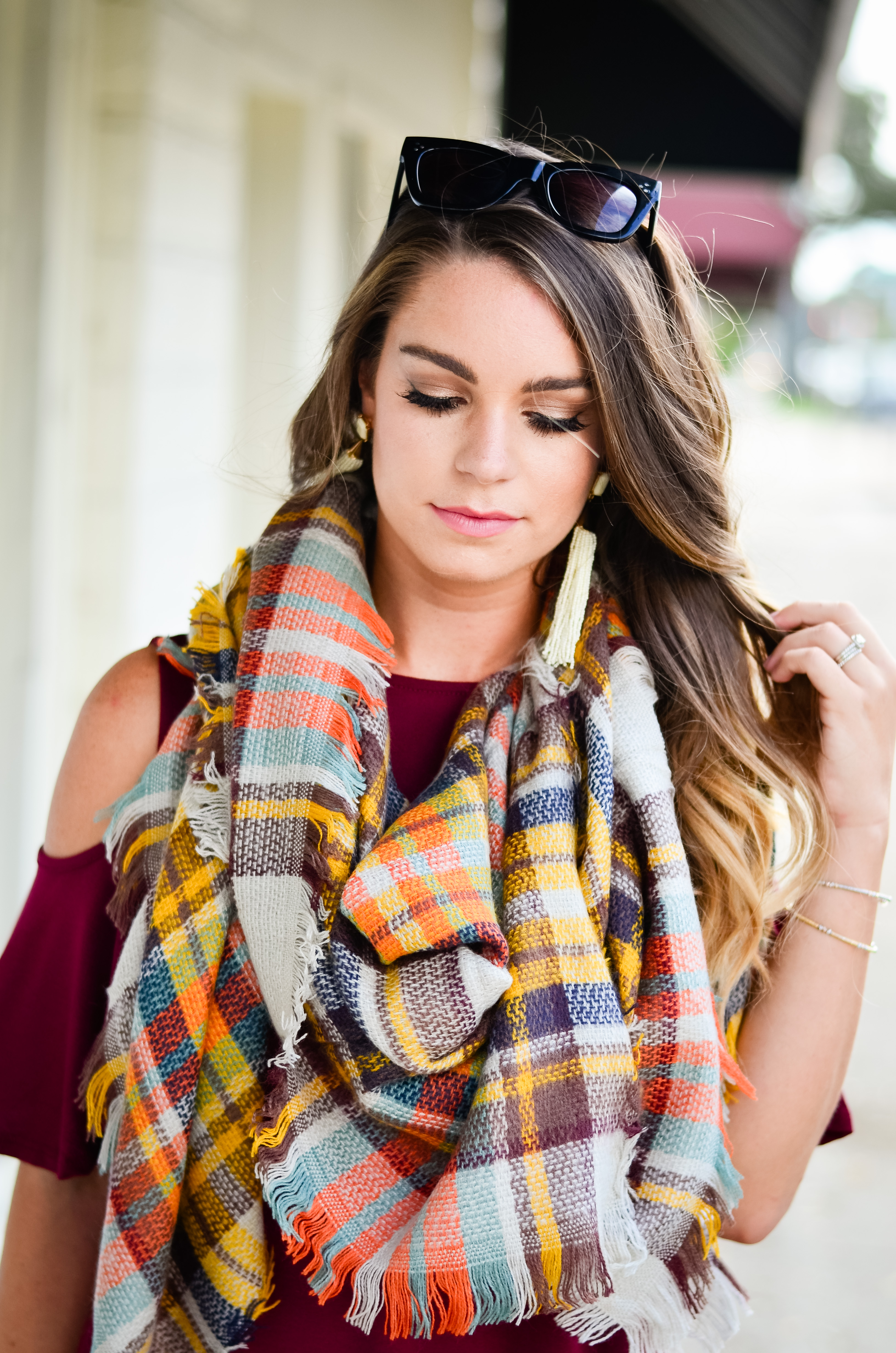 maroon-dress-blanket-scarf-goldfinch-23