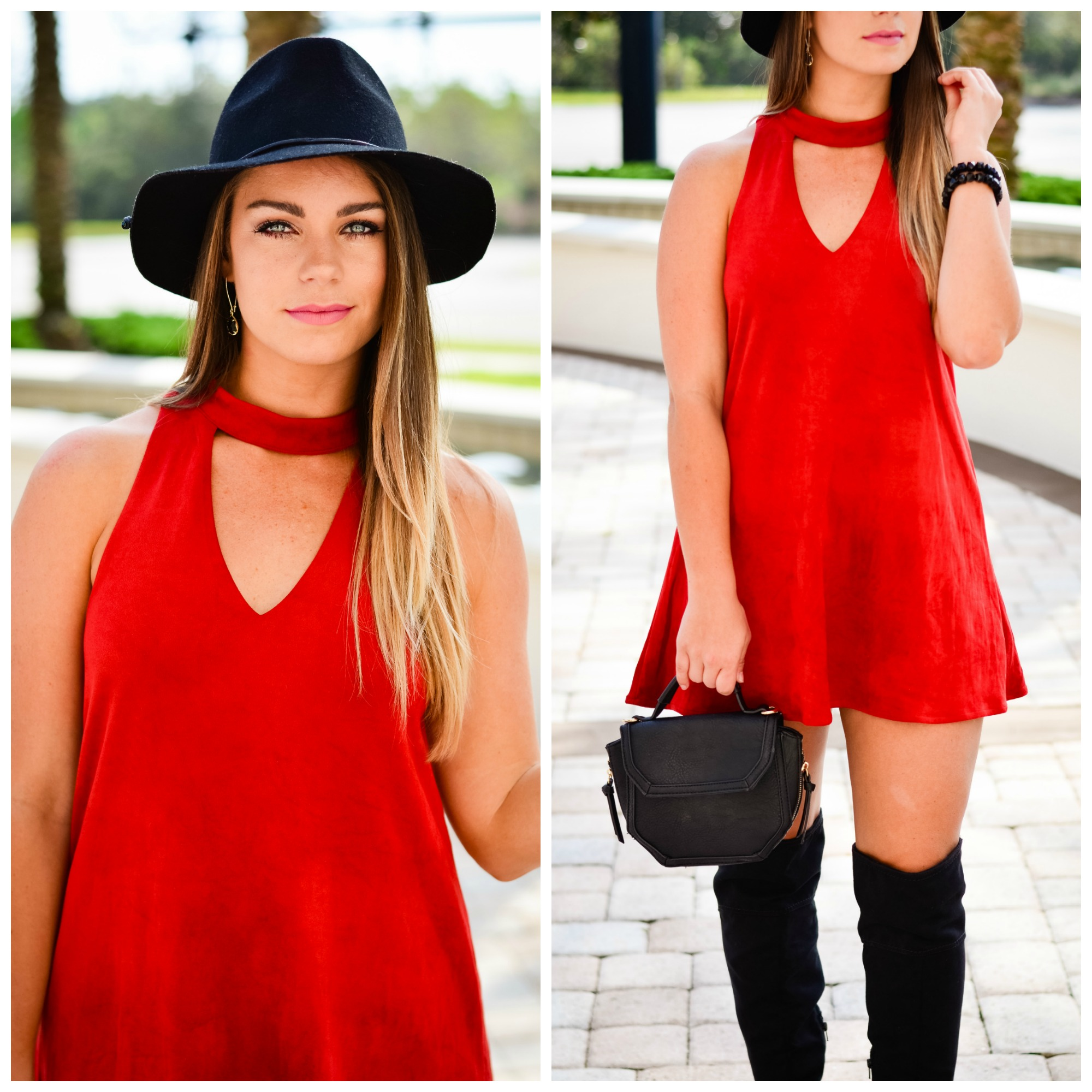 red-suede-dress