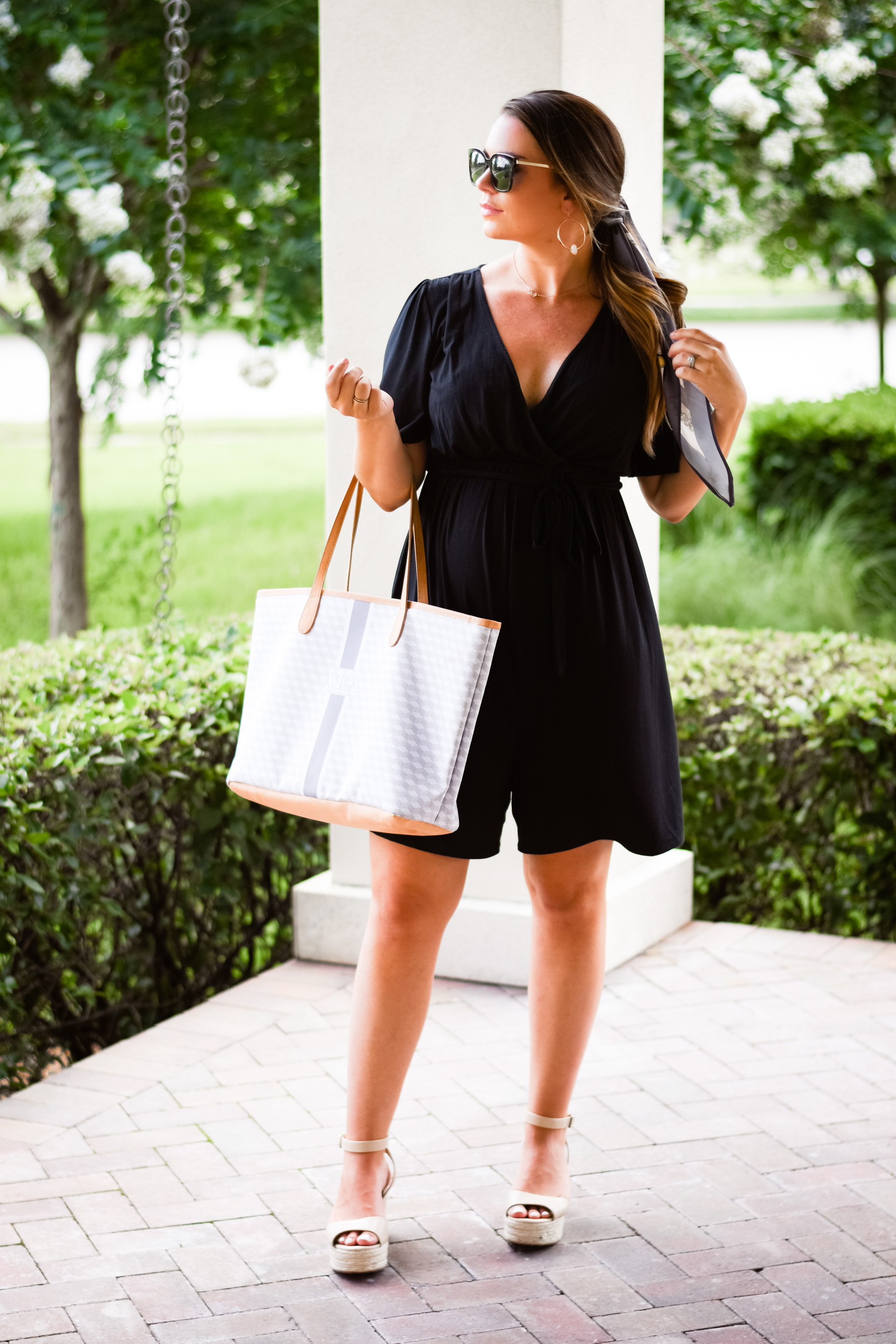 How To Wear A Romper While Pregnant The Most Versatile Tote Under 200 Hello Alley